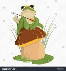 princess frog russian folktalechildrens booka frog stock vector