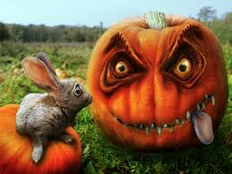 halloween pumpkins wallpaper rabbit wallpapers wide wallpapers net
