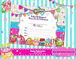 shopkins blank invitations shopkins invitations shopkins