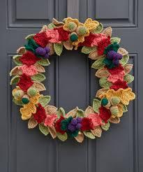 fabulous fall wreath free crochet pattern crochet kingdom