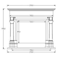 camino misure manteau de chemin礬e classique en marbre kiev decormarmi