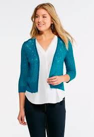 cato sweaters pointelle sweater cardigan cardigans shrugs cato fashions