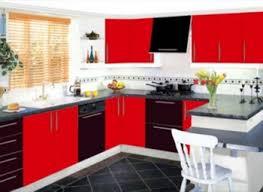 elegan small kitchen color design ideas red white picture of small