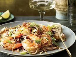 thanksgiving noodles recipe soba noodles with grilled shrimp and cilantro recipe su mei yu