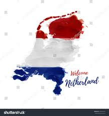 Map Of Holland Symbol Poster Banner Netherlands Map Holland Stock Vector