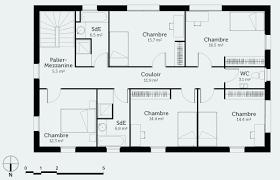 plan de maison 5 chambres plan maison plain pied 3 chambres 110m2 meilleur de plan maison 6