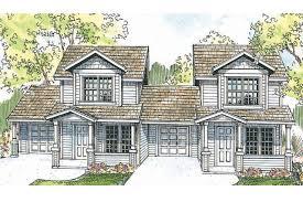 duplex house plans with garage duplex plans architect house plan cranbrook 60 009 front with