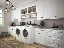 how to install base cabinets in laundry room aspen white shaker rta laundry room cabinets the rta store