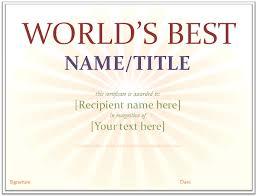 award certificates free certificate templates