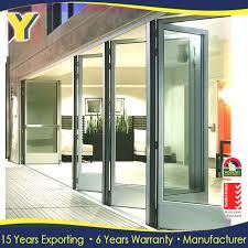 Bi Folding Patio Doors Prices Accordion Aluminum Glass Patio Exterior 24 Inches Sliding Doors