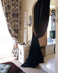 Thick Black Curtains Black White Curtains Panles Interior Design Eclectic Modern Home