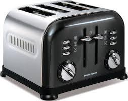 Morphy Richards Toaster White Morphy Richards Toaster 44733 Accents Translucent Black 4 Slice
