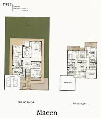 5 Bedroom The Lakes Dubai Floor Plans Emirates Living Deema Ghadeer