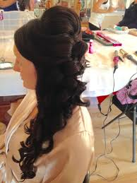 hairstyle updo with height hair to the side by joanne at bangz
