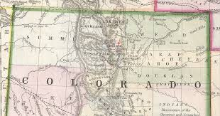 Maps Of Colorado by File 1866 Boulder Detail Map Of Kansas Nebraska And Colorado By