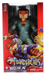 thundercats amazon com thundercats tygra 14 inch mega scale action figure