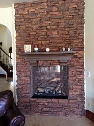 diy faux rock fireplace home design ideas