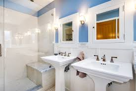 double pedestal sink bathroom traditional with hex tiles board and