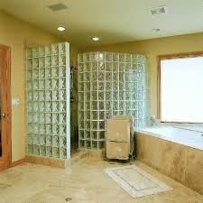 glass block bathroom ideas bathroom amazing ideas for bathroom decoration using travertine