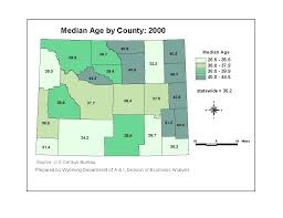 Wyoming Zip Code Map by Census 2000 Data Products