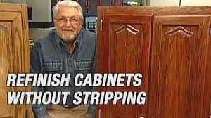 how to sand and stain kitchen cabinets refinish kitchen cabinets without stripping