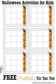 Free Halloween Printables For Kids Halloween Activities For Kids Tic Tac Toe