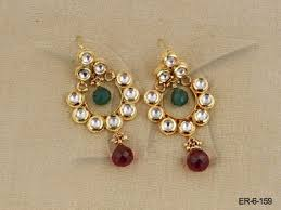 latkan earrings kundan earings latkan moti kundan earring kundan earrings