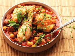 30 minute pressure cooker chicken with chickpeas tomatoes and