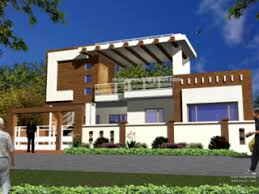 front elevation single story building small house plans modern