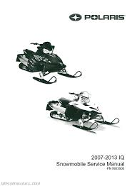 2007 2013 polaris iq snowmobile service manual 9923900 ebay