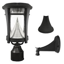 Solar Exterior Light Fixtures by Gama Sonic Aurora Solar Outdoor Led Light Bright White Leds