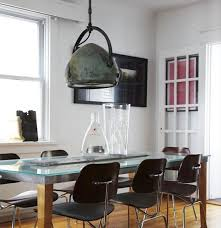 industrial glass dining table industrial dining room lighting design and glass top dining table