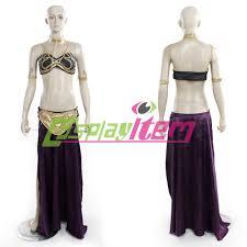 Halloween Costume Princess Leia Cheap Customized Movie Women Star Wars Slave Princess Leia Costume