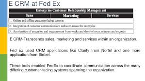 fed ex continuing crm innovations