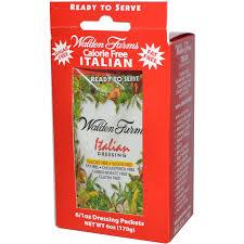 walden farms dressing italian 6 packets evitamins com