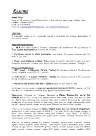 Internal Job Resume by Resume Without Salary