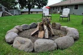 Rock Firepit Pit With Rocks Amazing Gallery Outdoor Decorations 3