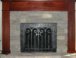 wrought iron fireplace screens u2013 mather u0026 sullivan architectural