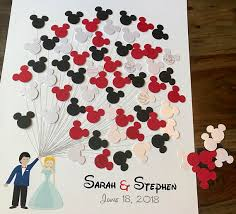 themed guest book 3d disney wedding guestbook mickey mouse themed wedding mickey