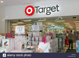 browsing sale items at target department store owned by stock