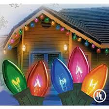 c9 christmas lights set of 25 transparent multi color twinkling c9