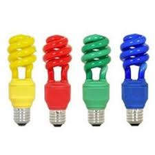 colored fluorescent light bulbs colored cfl l solan energy saving products private limited