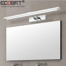 modern stainless steel led wall lights with swing arm bathroom