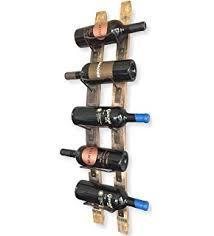 amazon com wine barrel stave hanging wine rack 5 bottle by