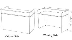 Standing Reception Desk Home Design Magnificent Typical Reception Desk Height Classic