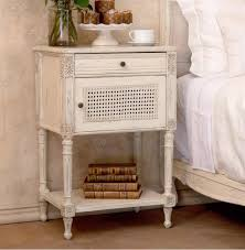 French Country Nightstand - giverny french country louis xvi old cream caned nightstand side