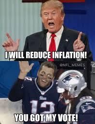 Tom Brady Funny Meme - haha the real reason brady is voting for trump sports humor