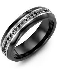 ceramic diamond rings images Men 39 s women 39 s eternity black diamond wedding ring madani rings jpg
