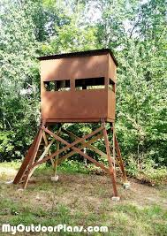 How To Make Sliding Windows For Deer Blind 9 Free Diy Deer Stand Plans Diy Deer Shooting Blind From My