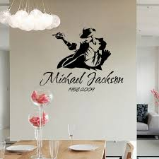 removble michael jackson sketch wall stickers mj kitchen bedroom